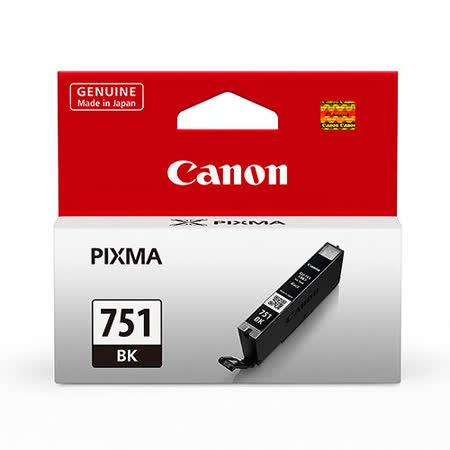 【CANON 佳能】CLI-751 BK 原廠相片黑色墨水匣
