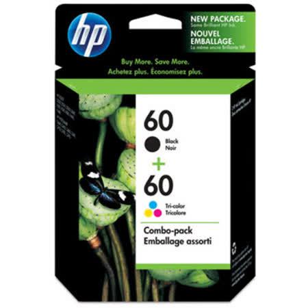 【HP】CN067AA/NO.60 雙色組合包原廠墨水匣 (CC640WA+CC643WA)