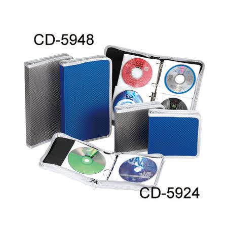 【雙鶖 Flying CD收納包】CD-5948 活頁式鑽石紋CD拉鍊包/CD收納盒/光碟片收納(48片)