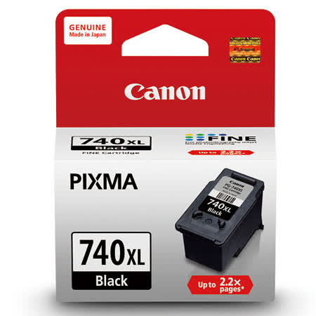 【CANON 佳能】PG-740XL 原廠高容量黑色墨水匣
