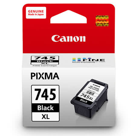 【CANON 佳能】PG-745XL 原廠高容量黑色墨水匣