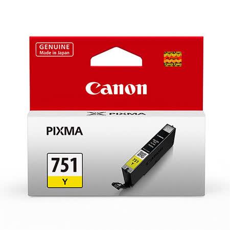 【CANON 佳能】CLI-751Y 原廠黃色墨水匣