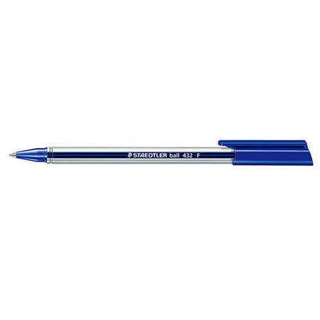 【施德樓 STAEDTLER】MS432F-3 三角原子筆 (藍色)