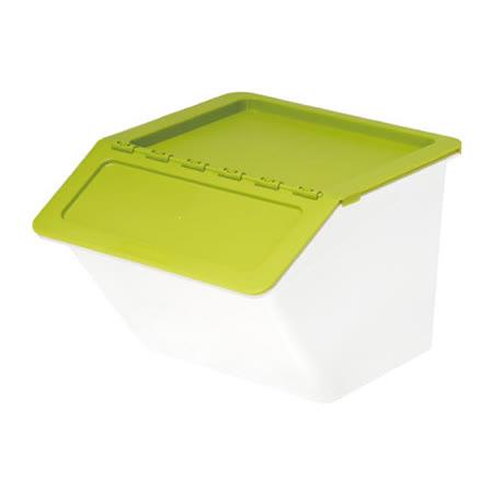 【樹德 SHUTER】MHB-3741 大嘴鳥家用整理箱/收納箱 (時尚綠/22L)
