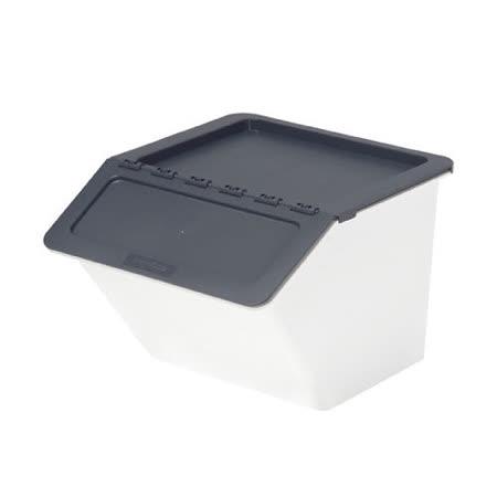 【樹德 SHUTER】MHB-3741 大嘴鳥家用整理箱/收納箱 (黑灰色/22L)