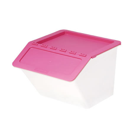 【樹德 SHUTER】MHB-3741 大嘴鳥家用整理箱/收納箱 (時尚粉紅/22L)