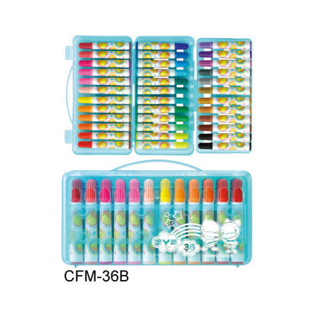 【雄獅 SIMBALION】功夫鴨 CFM-36B 彩色筆36色組 (外盒顏色隨機出貨) / 盒