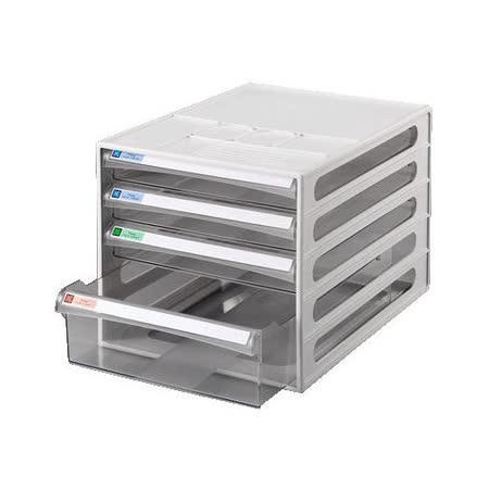 【雙鶖 FLYING】BB-10142 摩登透明4層效率櫃/公文櫃/資料櫃/文件櫃
