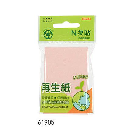 【N次貼】61905 再生紙便條紙/MEMO/便利貼 (100張/包)