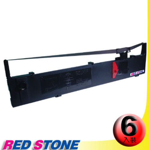 RED STONE for EPSON S015086/LQ2170色帶(黑色/1組6入)
