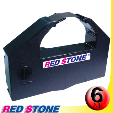 RED STONE for EPSON S015139/DLQ3000色帶(黑色/1組6入)