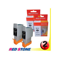 RED STONE for CANON BCI-24BK(黑色×2)墨水匣組