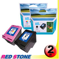 RED STONE for HP CC641WA+CC644WA環保墨水匣NO.60XL(一黑一彩)