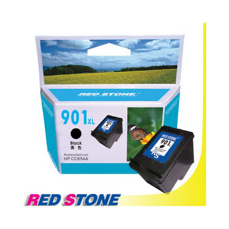 RED STONE for HP CC654A環保墨水匣(黑色)NO.901XL