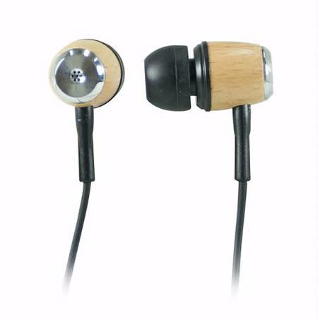 木紋質矽膠耳塞式立體聲耳機【YL-A8801】
