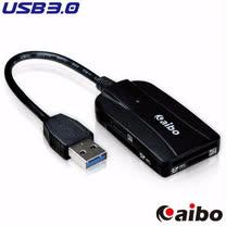 aibo USB 3.0 雙SD / 雙Micro SD 高速讀卡機