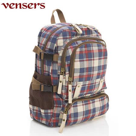 【Vensers】新潮流行包系列~後背包(D370101藍紅)