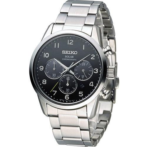 SEIKO SPIRIT 太陽能計時腕錶 V175~0BJ0A SBPY137J