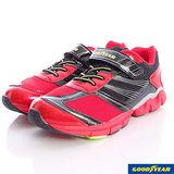 GOODYEAR戶外童鞋-透氣機能運動鞋款-KR48402紅黑-(21cm~25cm)