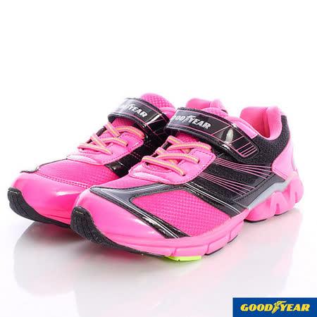 GOODYEAR戶外童鞋-透氣機能運動鞋款-KR48403黑粉-(21cm~25cm)