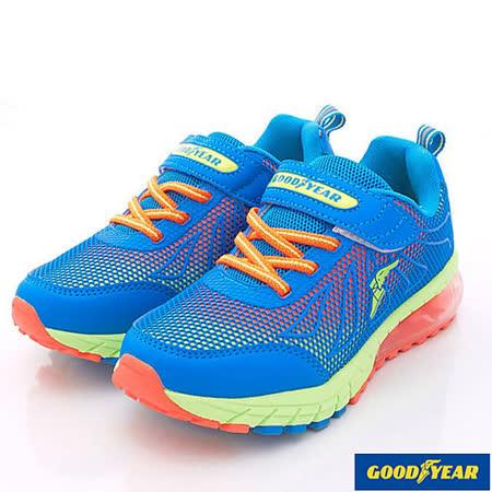 GOODYEAR戶外童鞋-亮彩氣墊運動款-KR58066藍綠-(21cm~25cm)