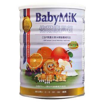 BabyMik佑爾康貝親 CBP黑棗水果米精 450g(1罐)