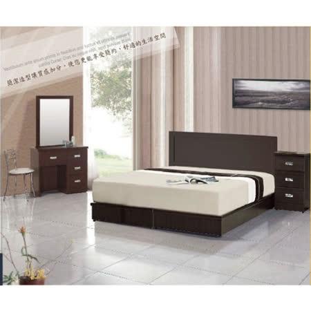 【AGNES 艾格妮絲】悅愛臥室六件組合(床墊+床頭片+床底+鏡台+椅+衣櫃)兩色可選