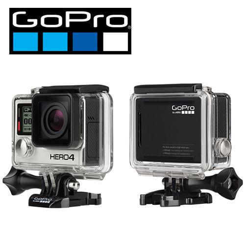 GoPro HERO 4 頂k 1行車記錄器級旗艦級黑色版-衝浪高手極限組(公司貨)-加送micro64G記憶卡+原廠電池+衝浪底座+漂浮手把+原廠充電座+HDMI線