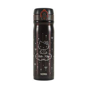 THERMOS膳魔師 Kitty不鏽鋼真空保溫瓶500ml-金屬咖啡 JMY-501KT