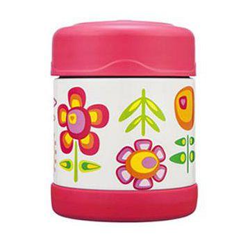THERMOS膳魔師 小花兒不鏽鋼真空食物罐300ml F3001FFP6