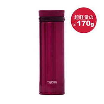 THERMOS膳魔師 極輕量不鏽鋼真空保溫杯350ml-酒紅色 JNO-350