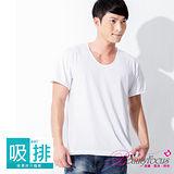 【BeautyFocus】台灣製涼爽舒適棉吸排短袖衫-7004