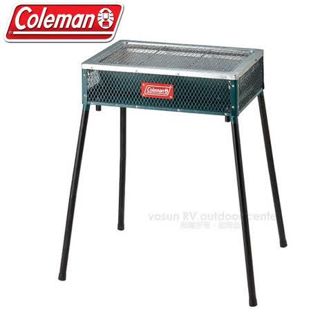 【美國 Coleman】酷立架高低可調烤肉箱_CM-21952 綠