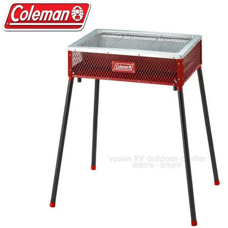【美國 Coleman】酷立架高低可調烤肉箱_CM-21954 紅