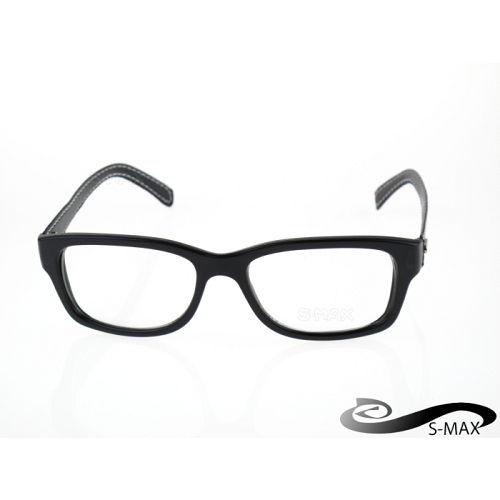 ★破盤價 【S-MAX專業代理品牌】 雷格風格復古大框 皮革腳 戴上就是有型 附眼鏡盒 經濟部CNS認證