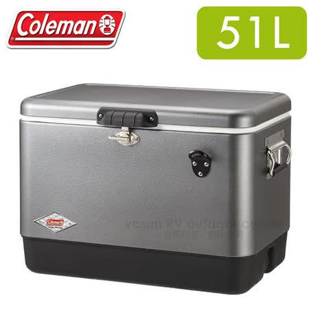 【美國 Coleman】51L 優雅銀經典不鏽鋼甲冰箱_CM-03740