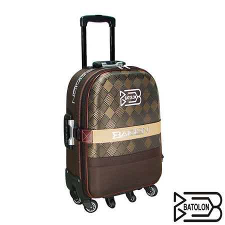 【BATOLON寶龍】29吋-編織菱格旅行拉桿箱