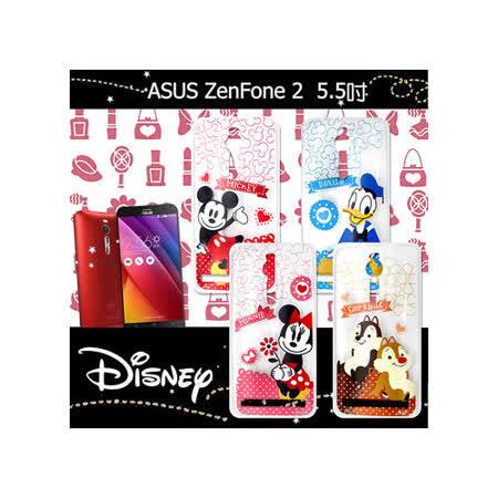 迪士尼授權正版 華碩ASUS ZenFone 2 ZE551ML 5.5吋 休閒點點透明軟式保護套 手機殼 (經典組)