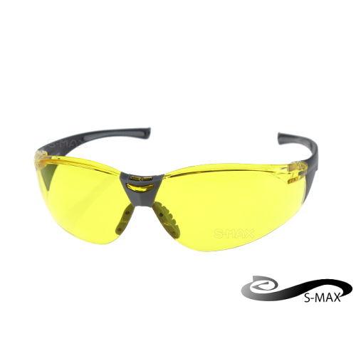 ~ 送眼鏡盒~S~MAX 代理品牌~ 防爆PC夜用增光黃鏡片 抗炫光 抗反射光 抗UV40