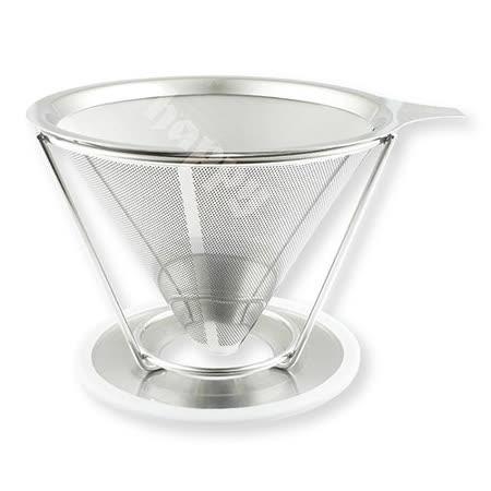 Coffee Master雙層不銹鋼咖啡濾杯濾網+承架免用咖啡濾紙