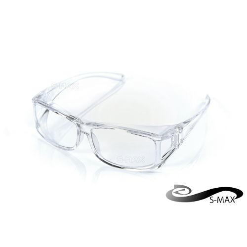 價~送眼鏡盒~可包覆近視眼鏡於內 ~S~MAX 代理品牌~ UV400太陽眼鏡 透明PC鏡