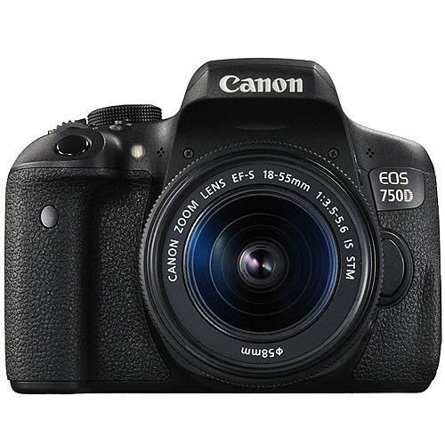 Canon EOS 750D 18-55mm IS STM (公司貨)-加送64G卡+原廠電池+保護鏡+相機包+快門線+遙控器+專用遮光罩+熱薛蓋+HDMI+減壓背帶+大吹球清潔組+拭鏡筆