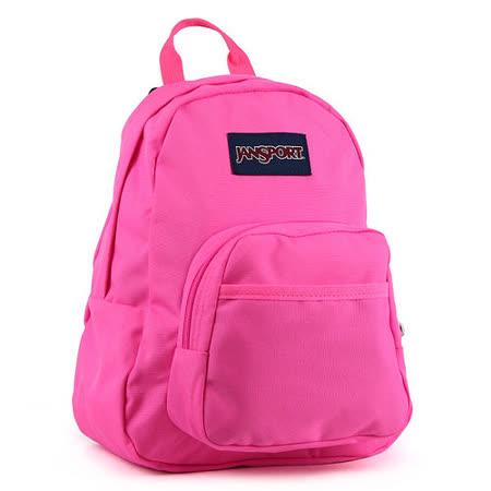 JanSport校園背包(HALF PINT)-螢光粉紅