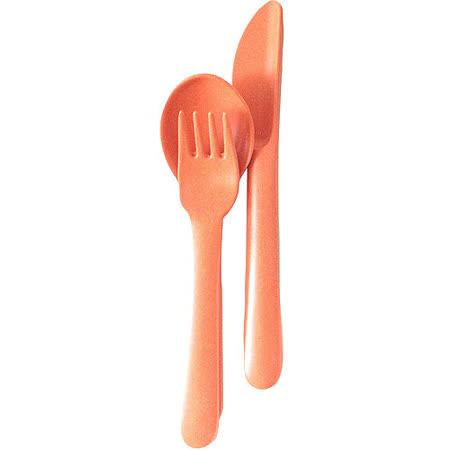 《BIOBU》Bambino兒童餐具3件(橘)