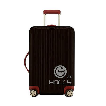 PUSH! 旅遊用品 ABS.PC行李箱拉杆箱專用防水保護套防塵套箱套拖運套透明黑