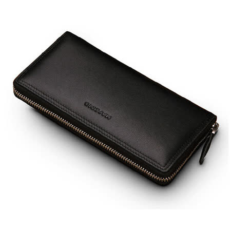 PUSH!長夾5.7吋手機頭層牛皮夾零錢包手機套手機包保護皮套push11