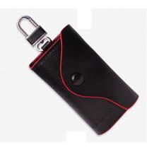 PUSH! 男士零錢鑰匙包英倫風皮夾頭層牛皮零錢包精品生日禮物PUSH04