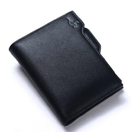 PUSH! 男士短夾皮夾頂級牛皮抽拉式拉鍊倉短皮夾零錢包精品生日禮物3035B