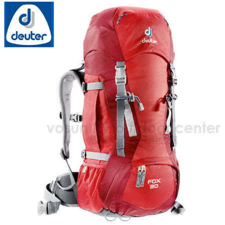 【德國 Deuter】FOX 30 +4L 輕量拔熱透氣背包_36053 暗紅/紅色