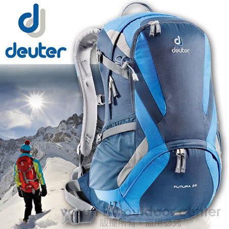 【德國 Deuter】Futura 28 輕量 網架式透氣背包_深藍/藍 34214